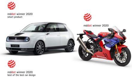 Prix Red Dot : La Honda-e et la CBR 1000 RR récompensées