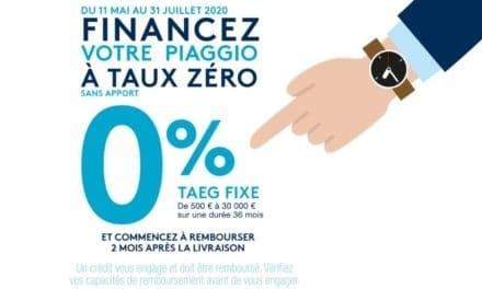 Piaggio – Vespa : Financement à taux zéro