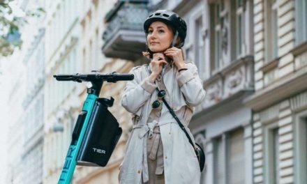 Tier Mobility : Un casque intégré dans les trottinettes électriques