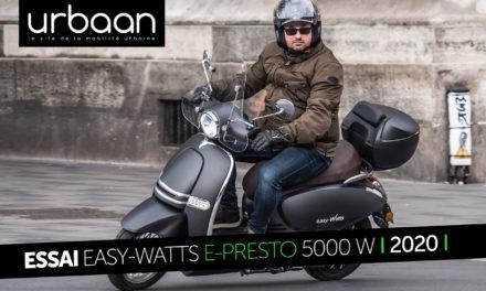 Essai Easy-Watts e-presto 5000 W : Pour se déplacer illico et écolo !