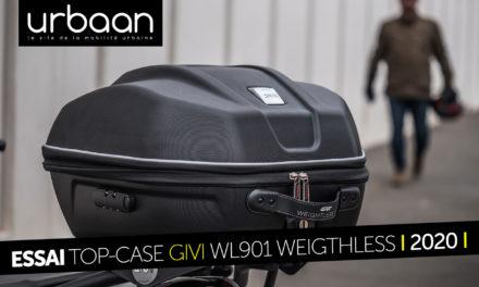 Essai Top Case Givi WL901 Weigthless : optimiser la capacité d'emport de votre deux-roues