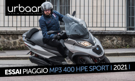 Essai Piaggio MP3 400 HPE Sport : Le fond plus que la forme !